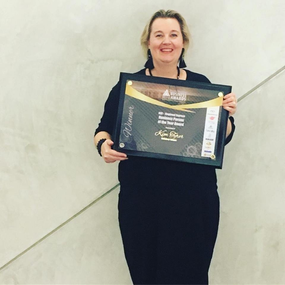 Congratulations Kim Tyrer Galafrey CEO & Winemaker wins ACCI Business Person of the Year